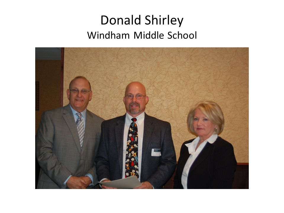 Donald Shirley Windham Middle School
