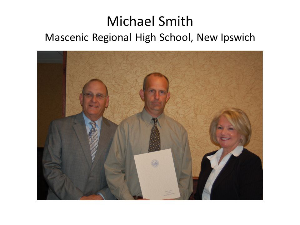 Michael Smith Mascenic Regional High School, New Ipswich