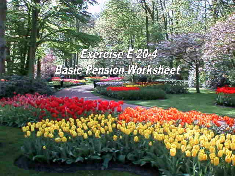 Basic Pension Worksheet