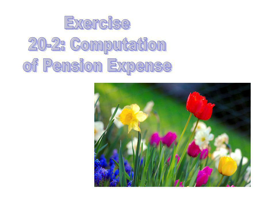 Exercise 20-2: Computation of Pension Expense