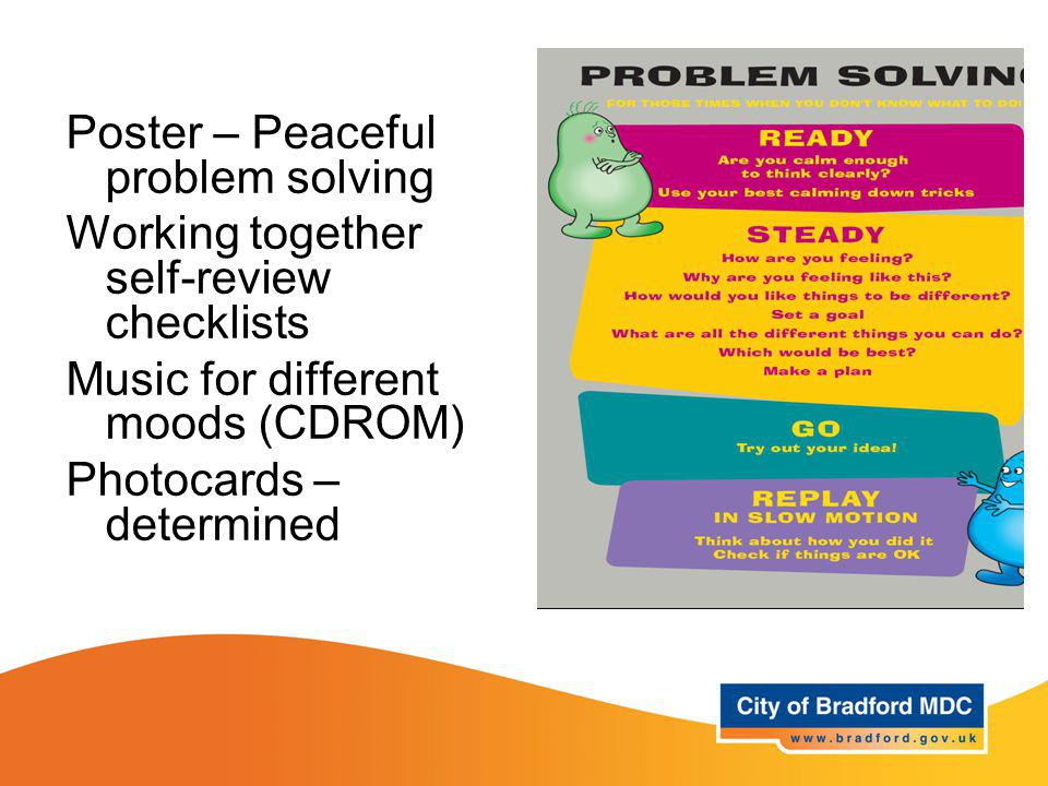 Resources – Year 1 Poster – Peaceful problem solving