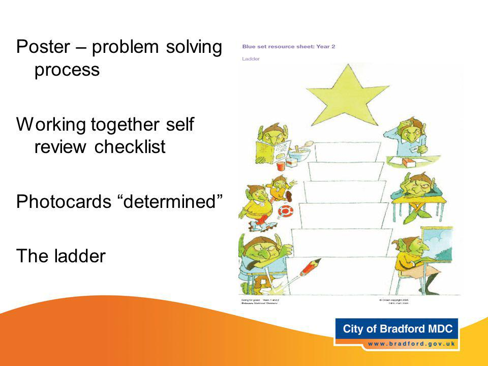 Resources – Year 2 Poster – problem solving process