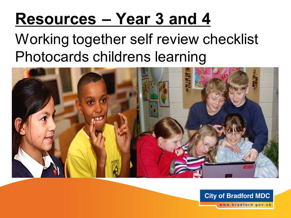 Resources – Year 3 and 4 Working together self review checklist