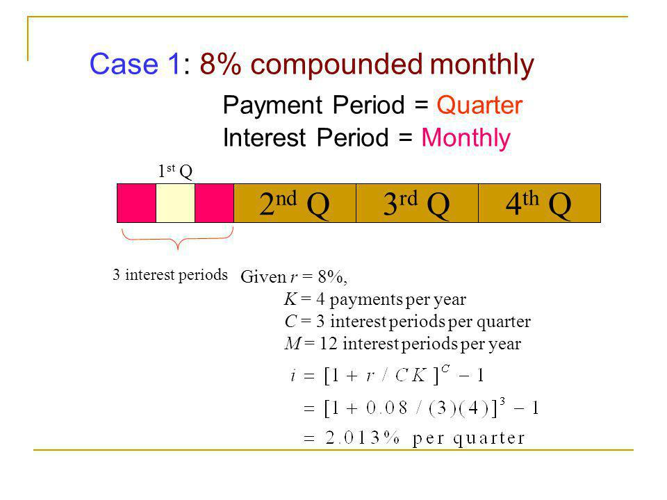 Payment Period = Quarter