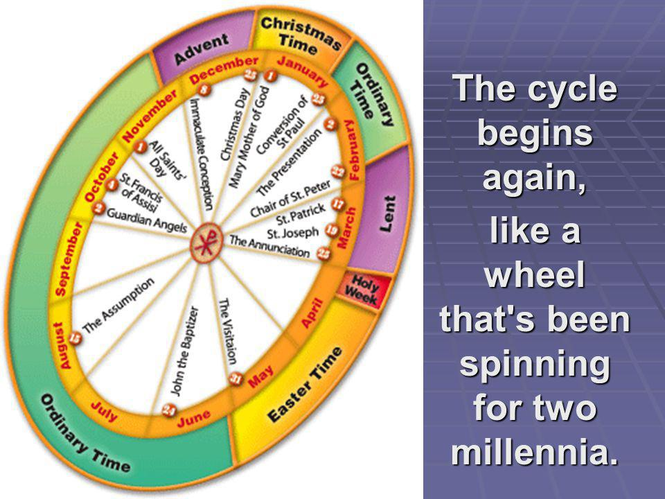 like a wheel that s been spinning for two millennia.