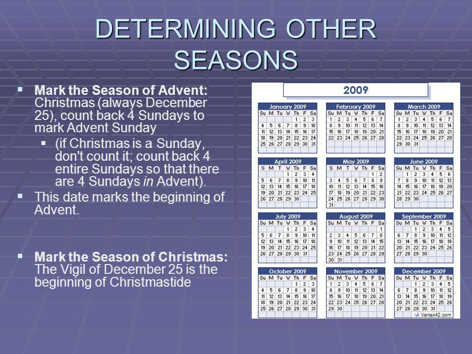 DETERMINING OTHER SEASONS