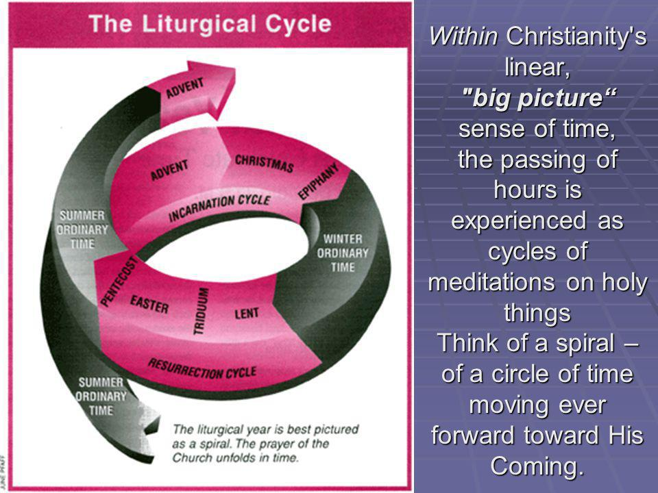 Within Christianity s linear, big picture sense of time,