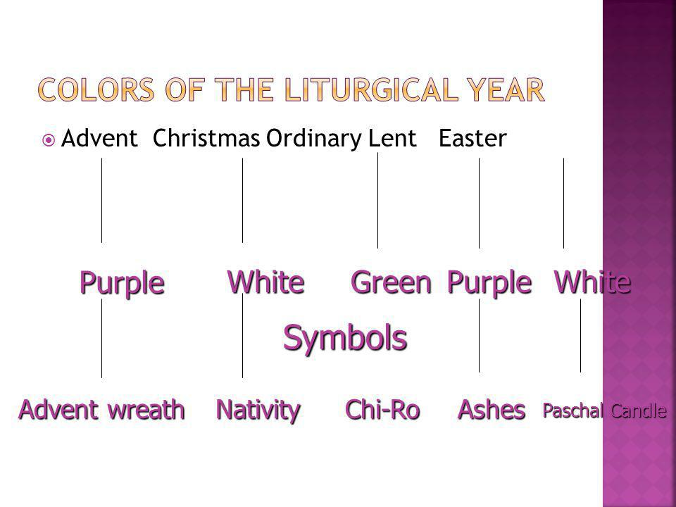 Colors of the Liturgical Year