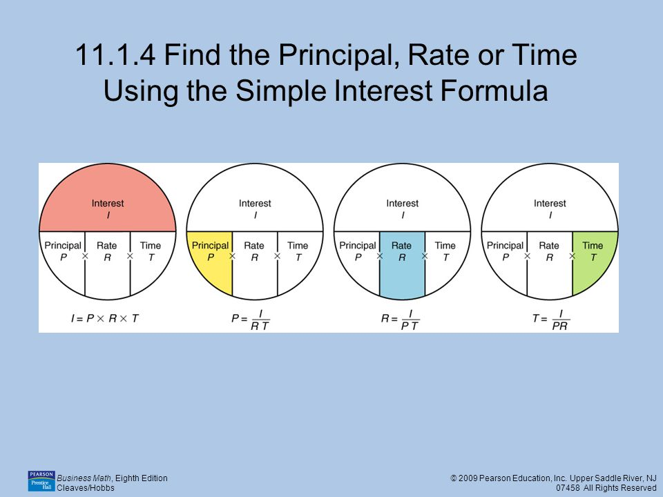 11.1.4 Find the Principal, Rate or Time Using the Simple Interest Formula