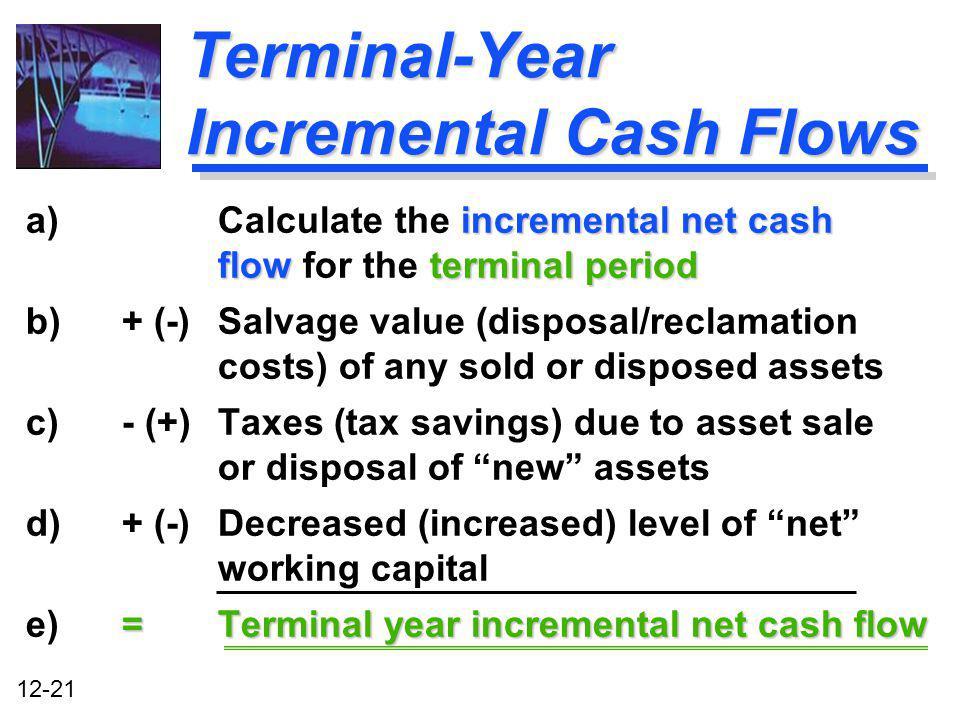 Terminal-Year Incremental Cash Flows