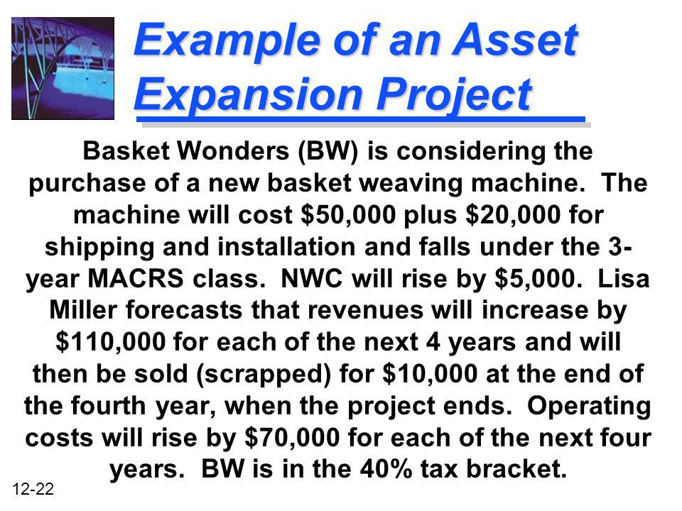 Example of an Asset Expansion Project