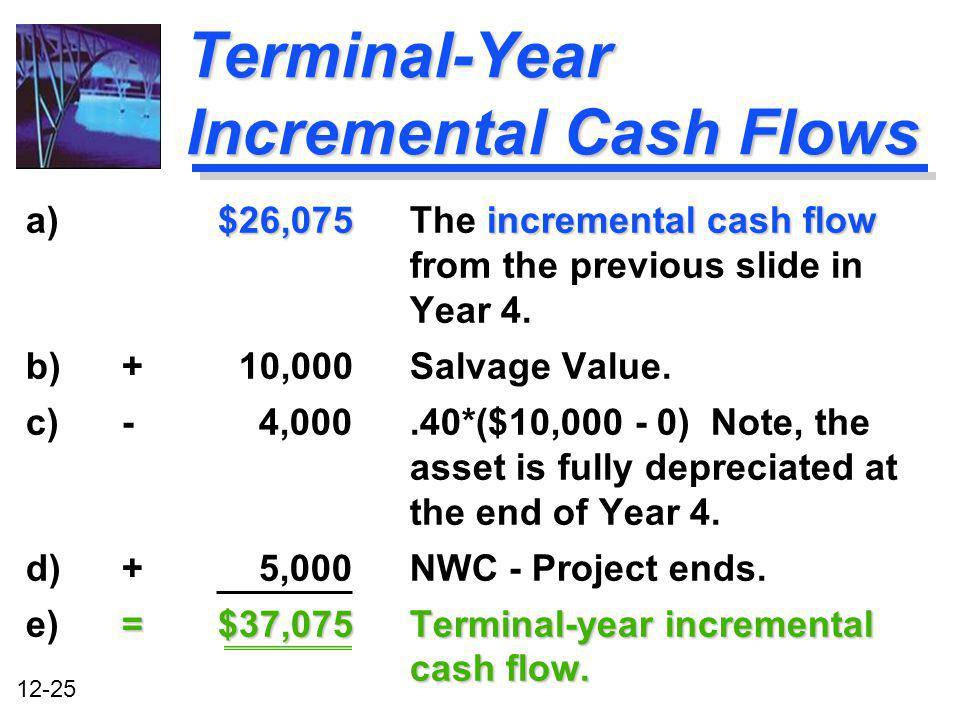 Terminal-Year Incremental Cash Flows