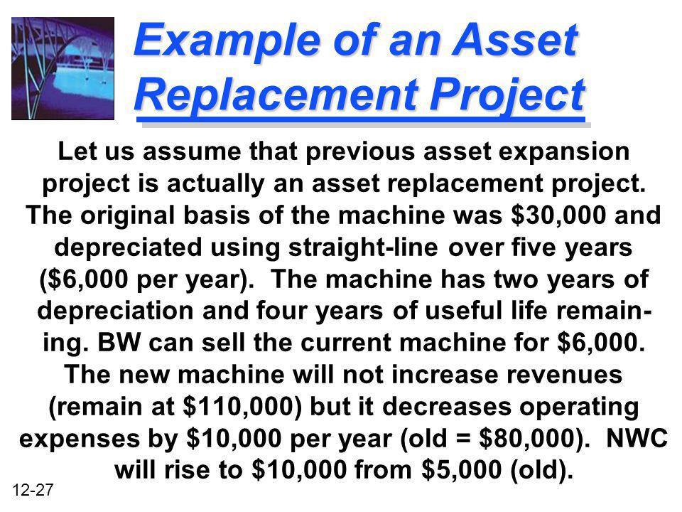 Example of an Asset Replacement Project