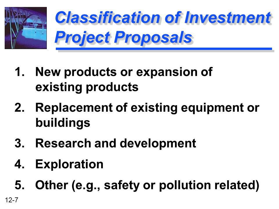 Classification of Investment Project Proposals