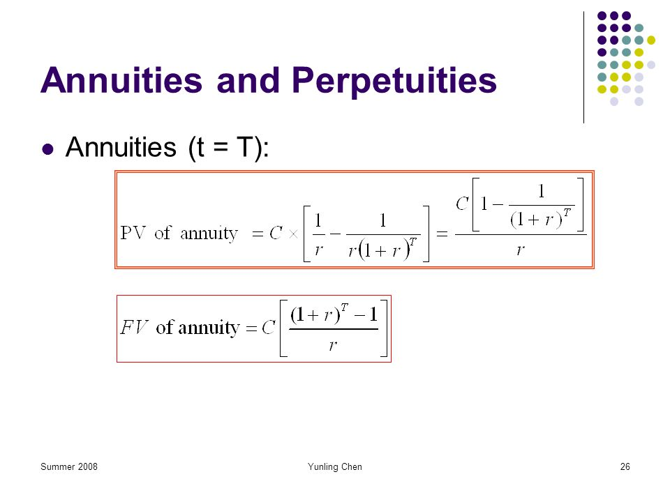 Annuities and Perpetuities
