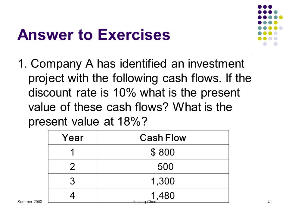 Answer to Exercises