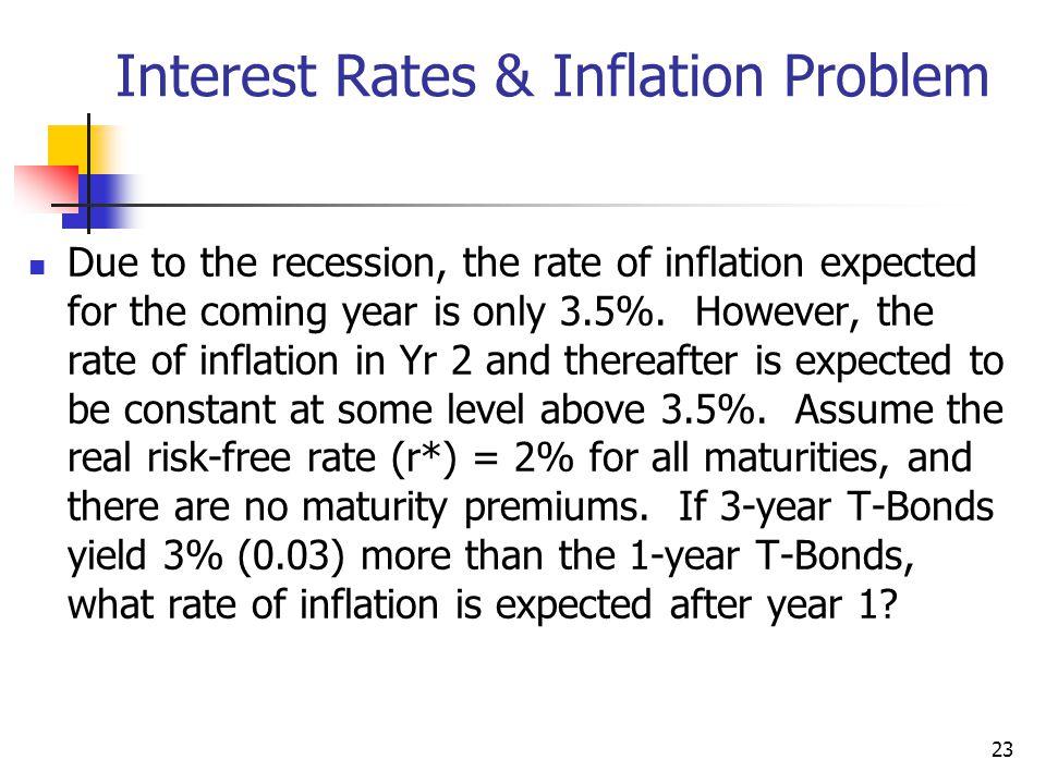 Interest Rates & Inflation Problem