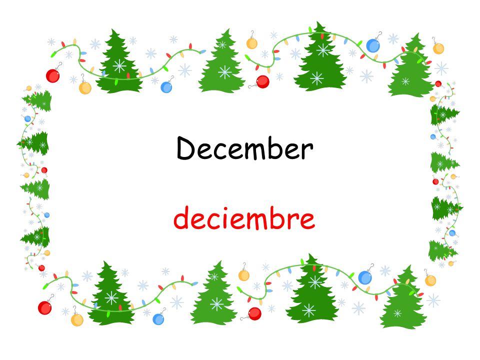 December deciembre