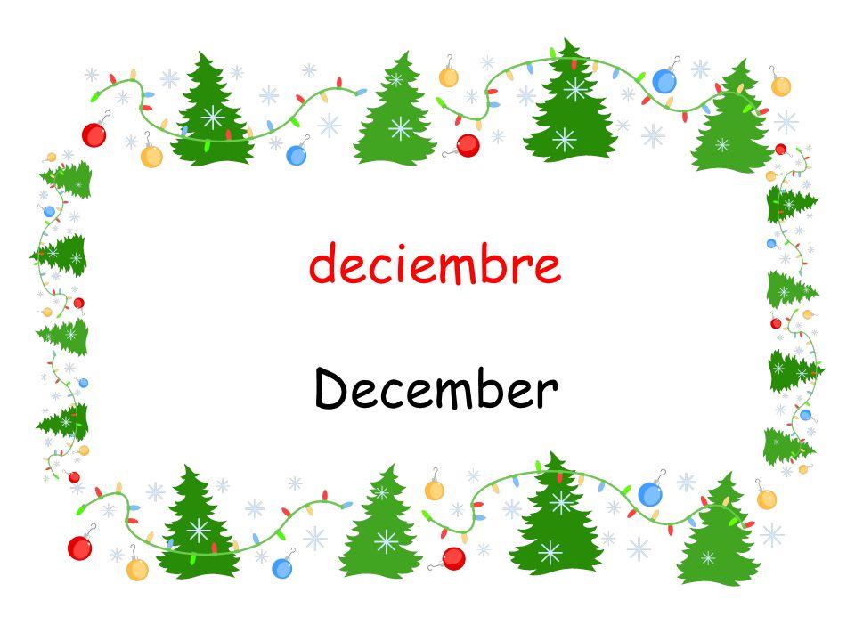deciembre December