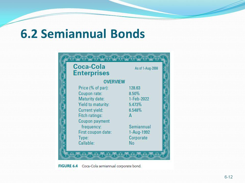 6.2 Semiannual Bonds