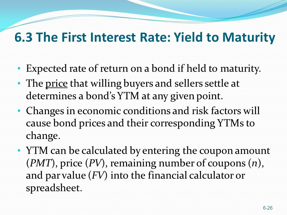 Yields That Matter More