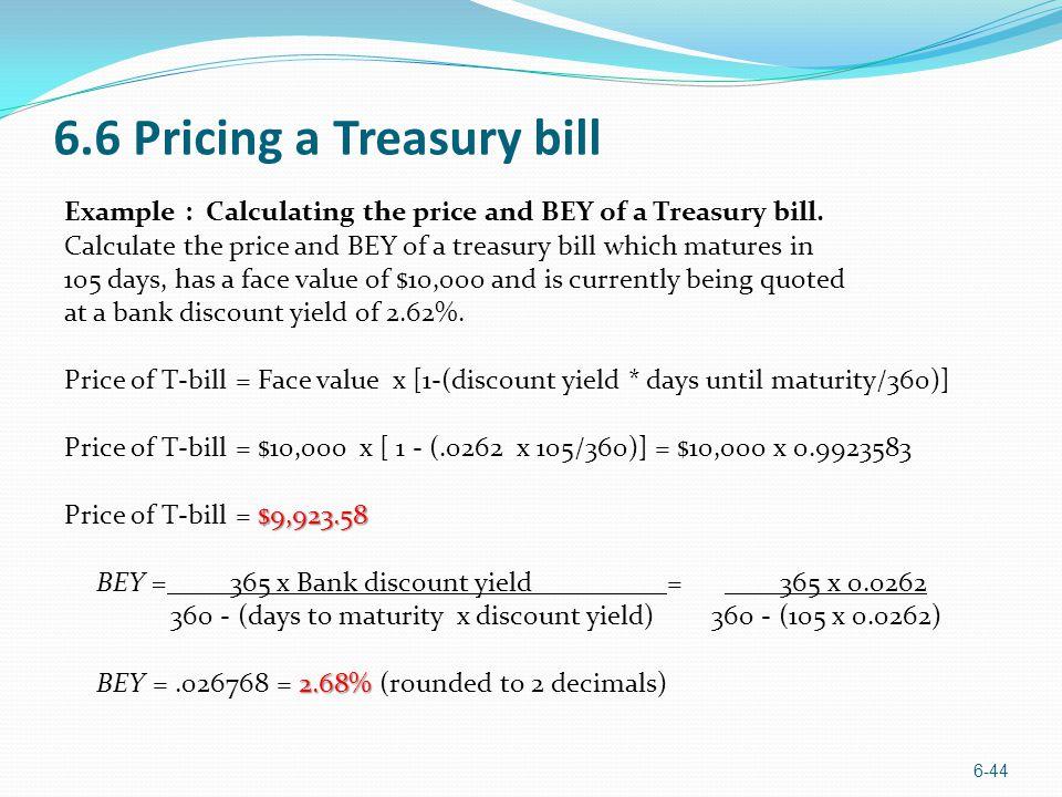 6.6 Pricing a Treasury bill