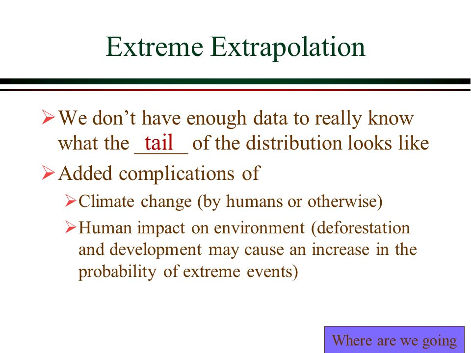 Extreme Extrapolation