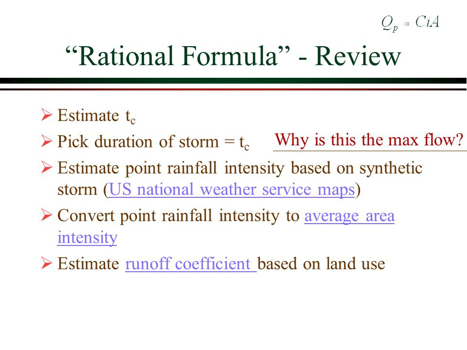 Rational Formula - Review