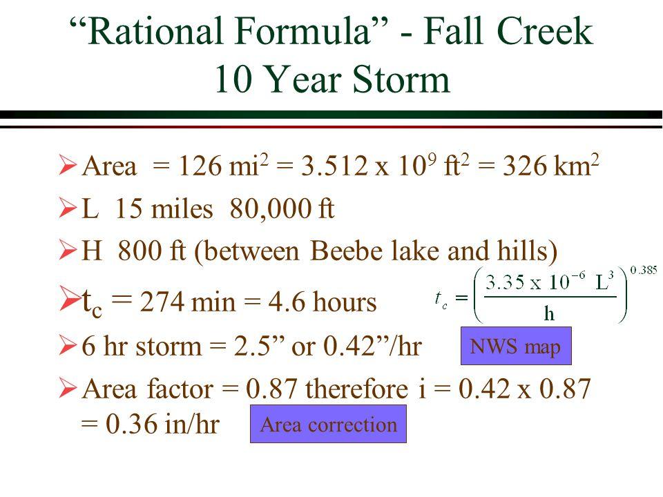 Rational Formula - Fall Creek 10 Year Storm