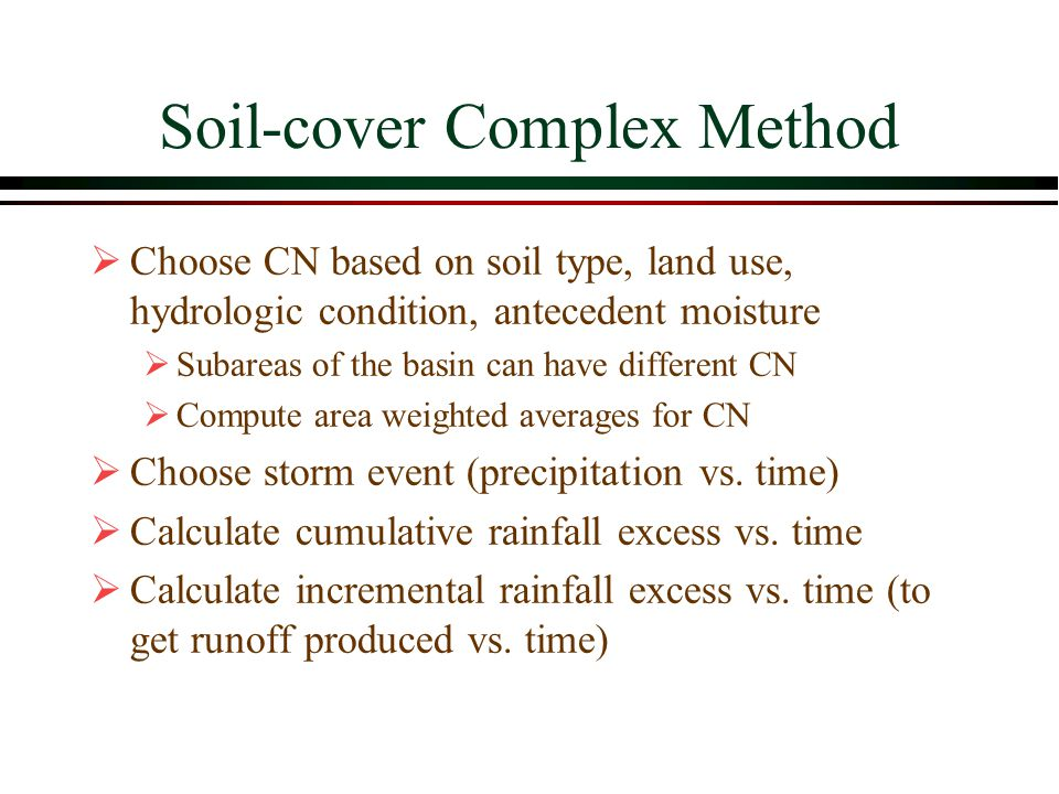 Soil-cover Complex Method