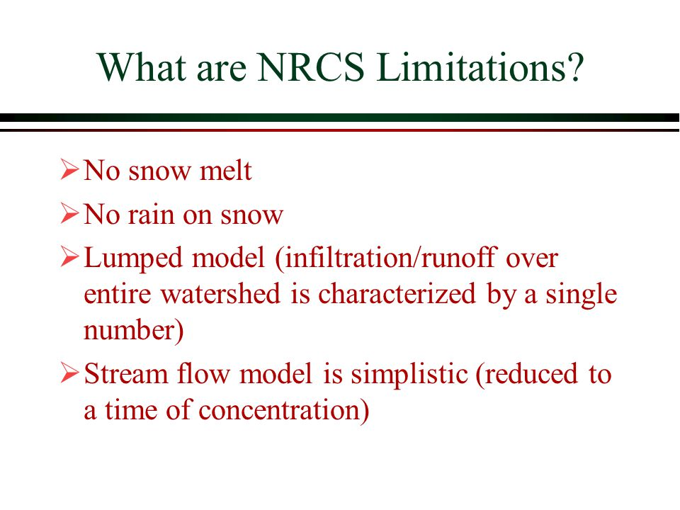 What are NRCS Limitations