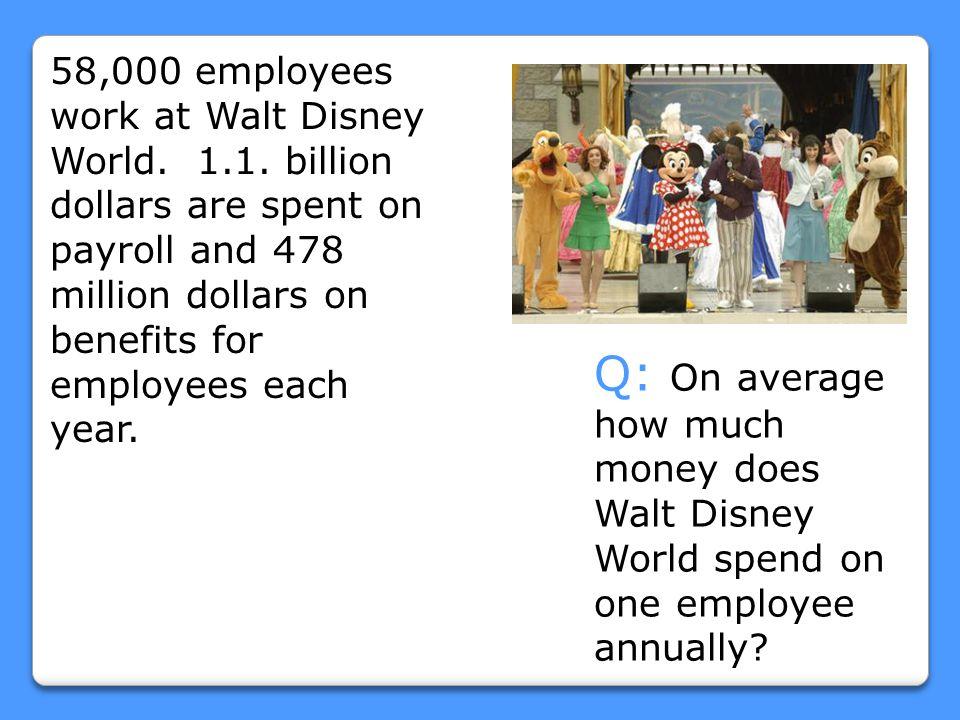 58,000 employees work at Walt Disney World. 1. 1