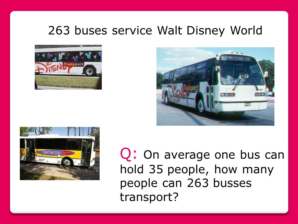 Q: On average one bus can