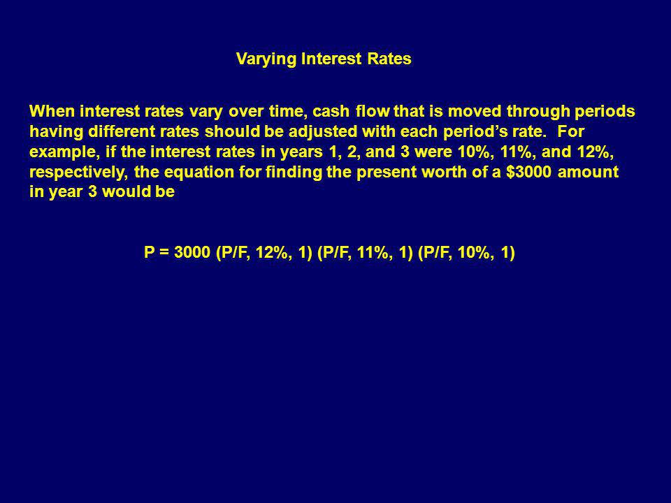 Varying Interest Rates