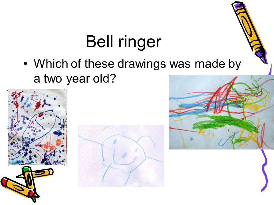 Bell ringer Which of these drawings was made by a two year old