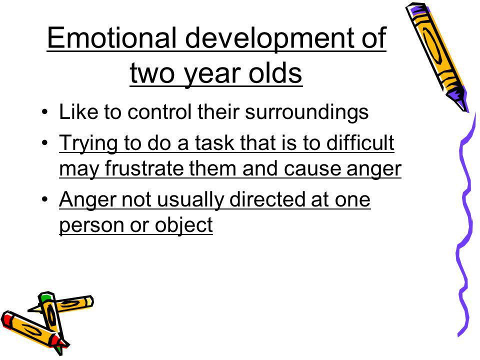 Emotional development of two year olds