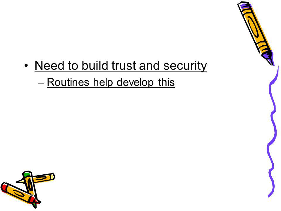 Need to build trust and security
