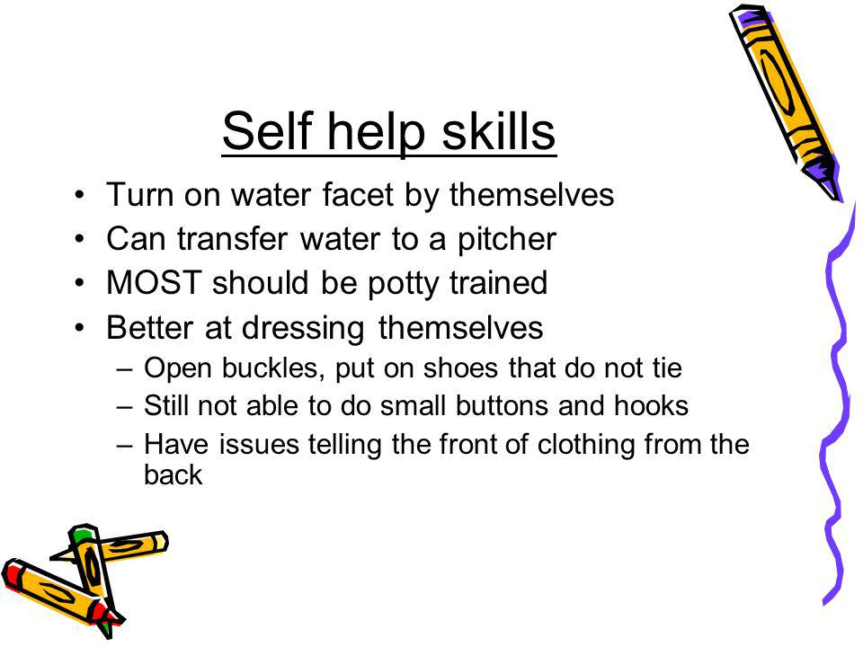 Self help skills Turn on water facet by themselves