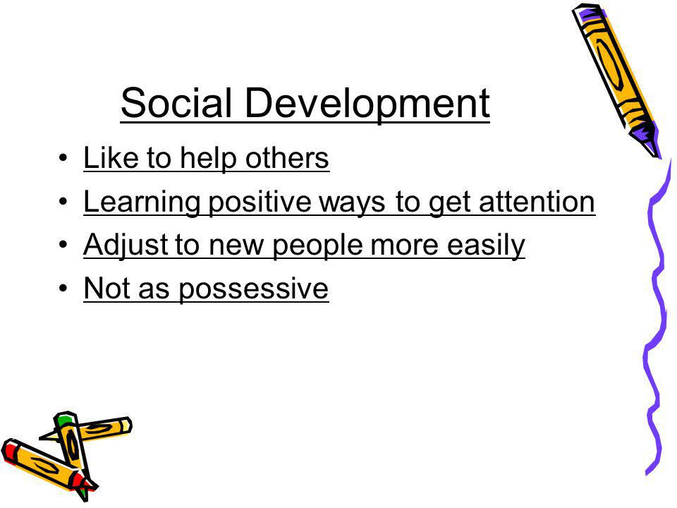 Social Development Like to help others