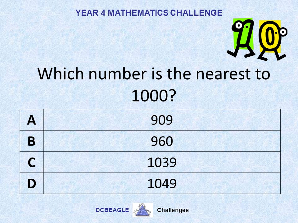 Which number is the nearest to 1000