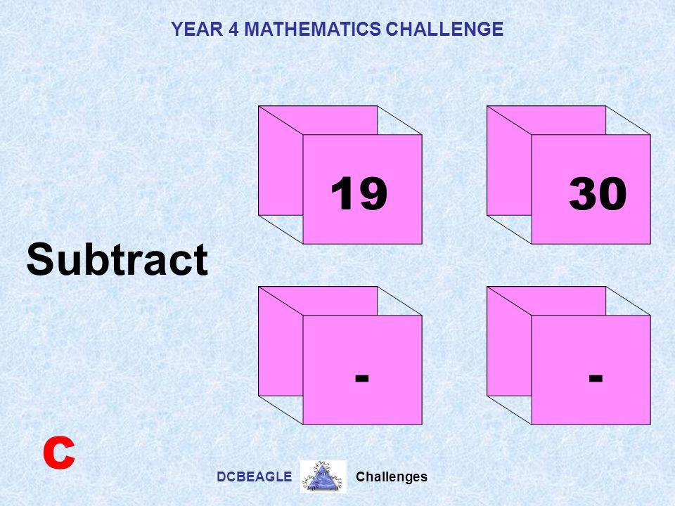 19 30 Subtract - - C
