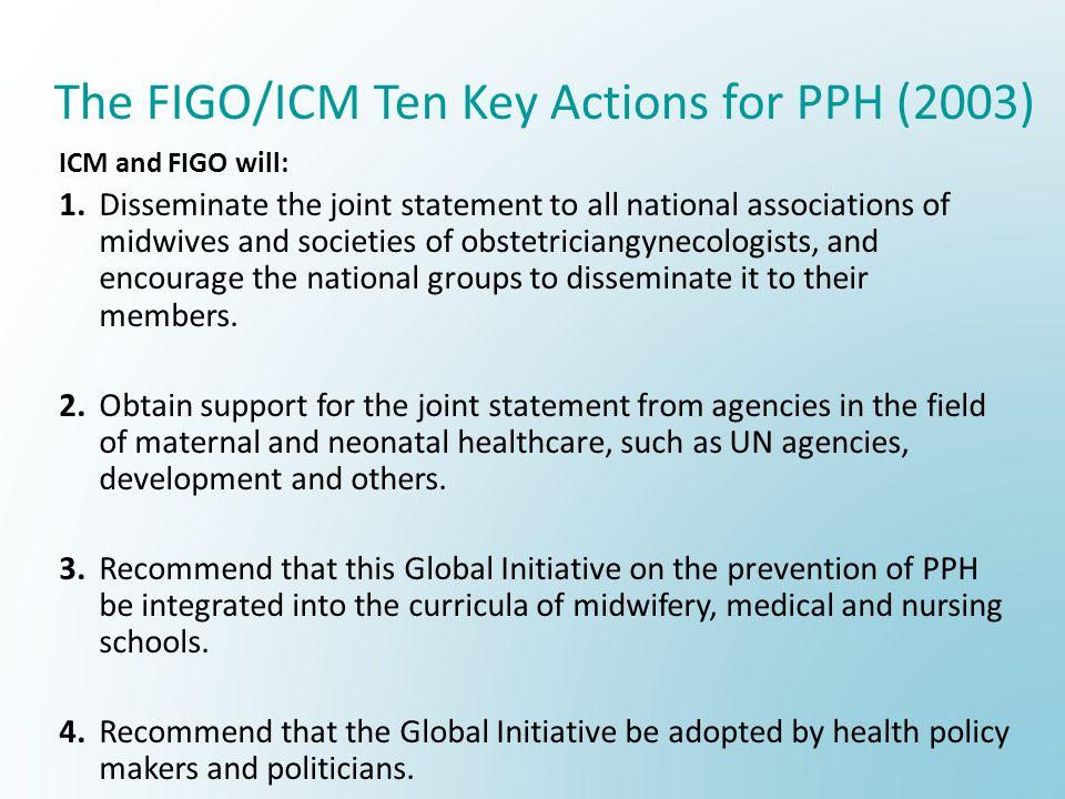 The FIGO/ICM Ten Key Actions for PPH (2003)