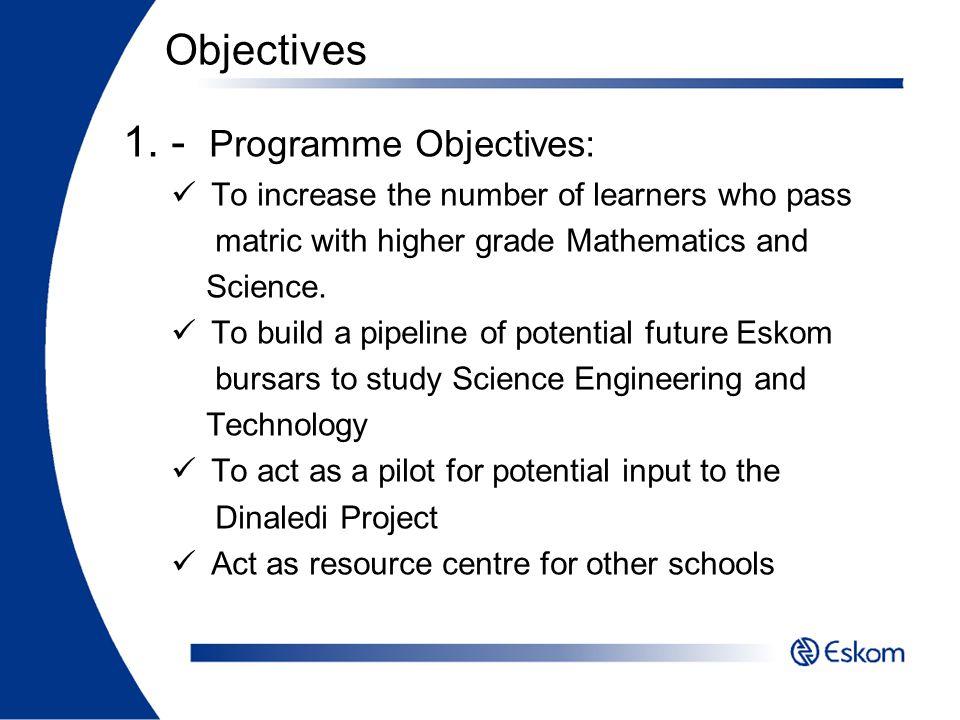 - Programme Objectives: