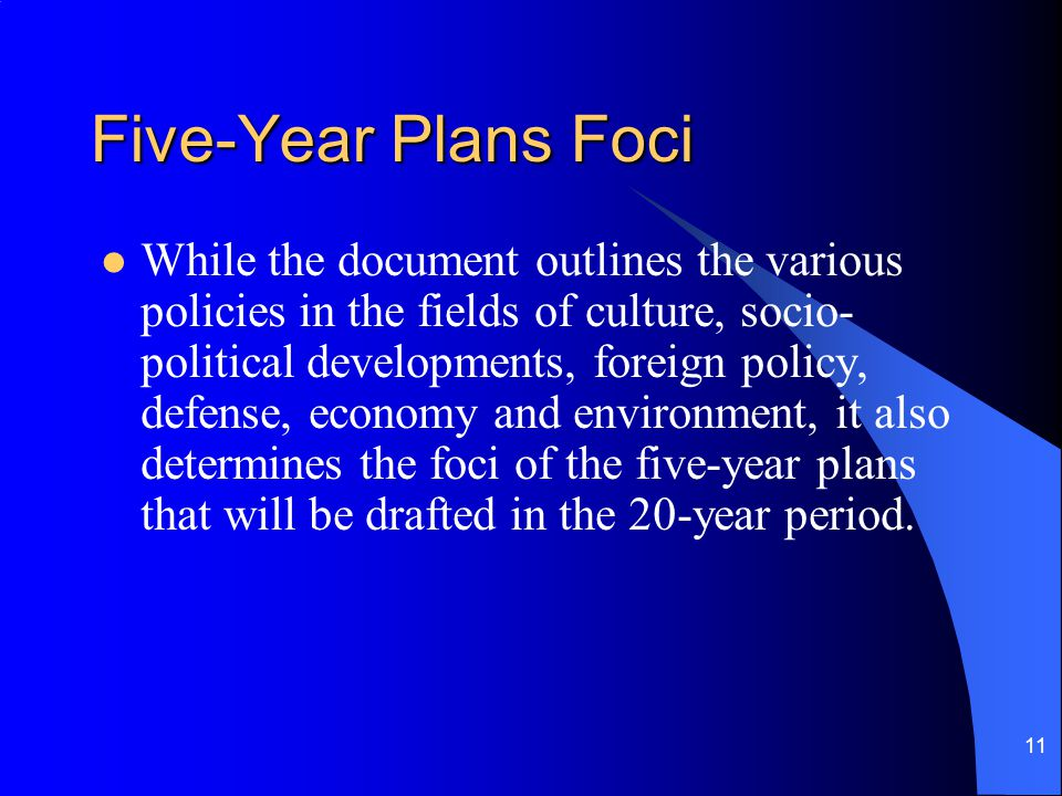 Five-Year Plans Foci