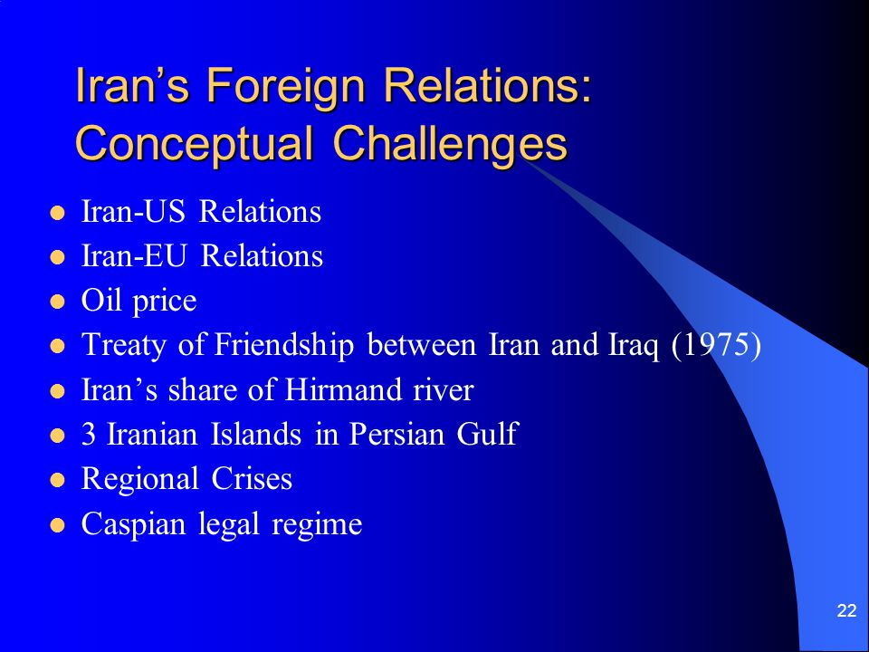 Iran's Foreign Relations: Conceptual Challenges