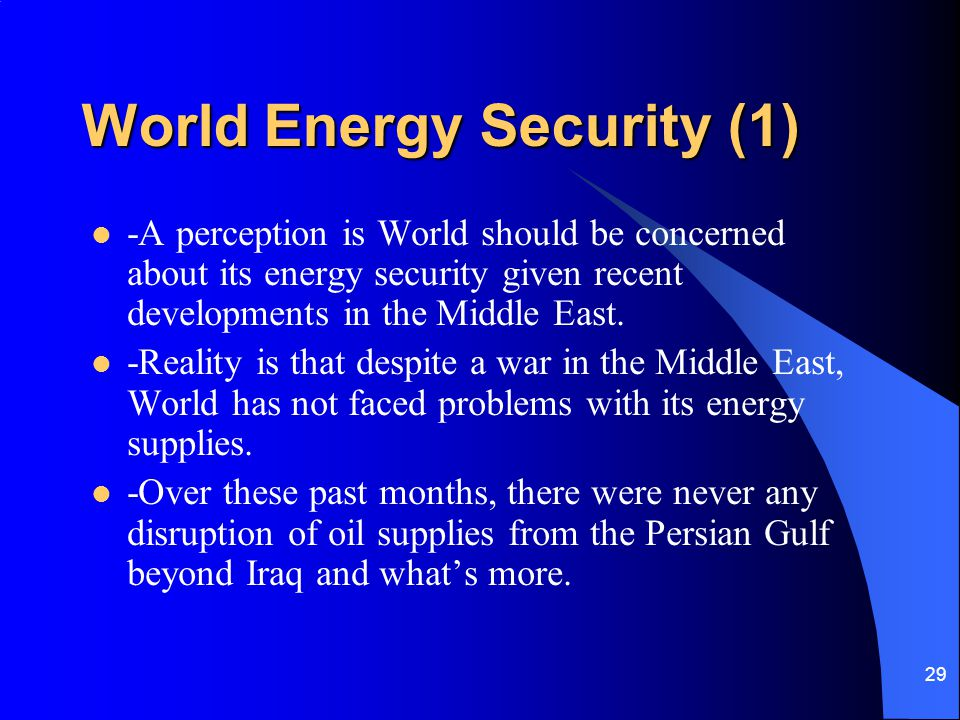 World Energy Security (1)