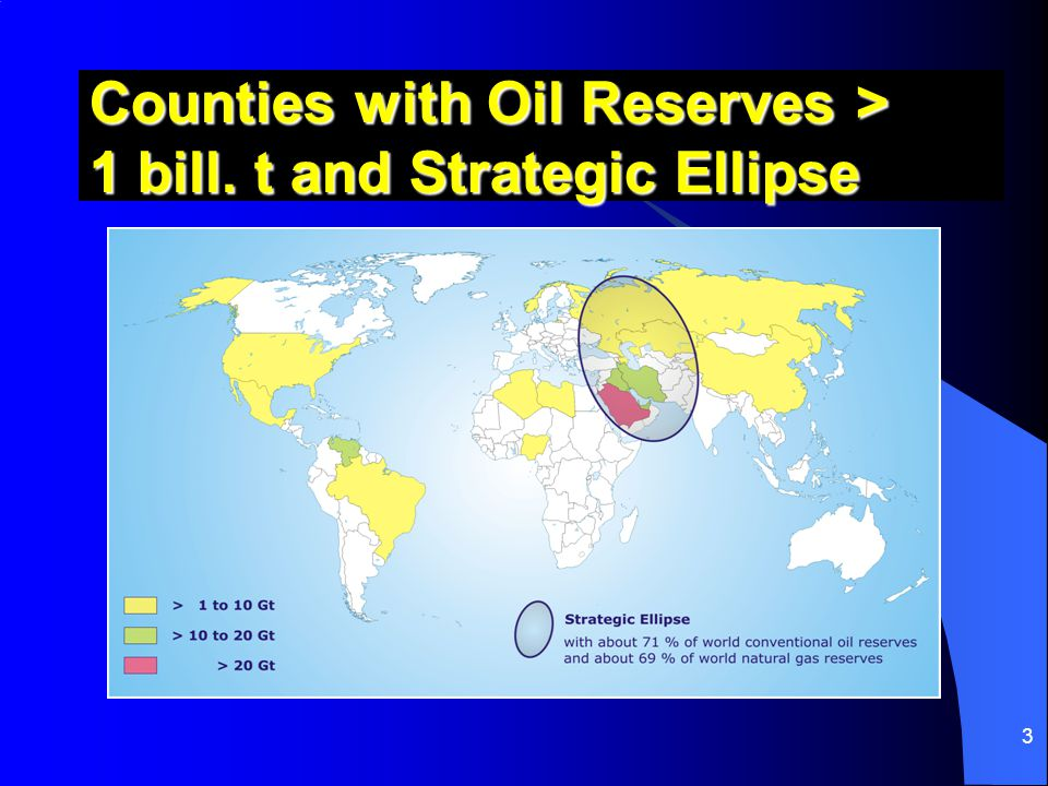 Counties with Oil Reserves > 1 bill. t and Strategic Ellipse