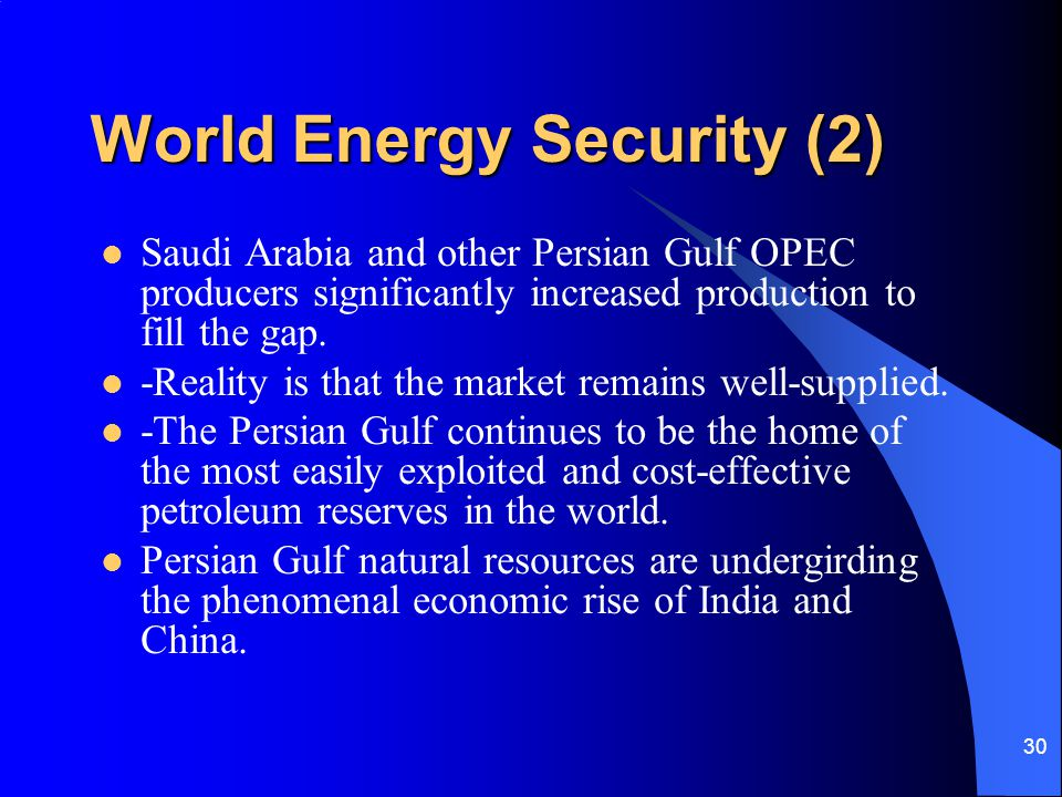 World Energy Security (2)