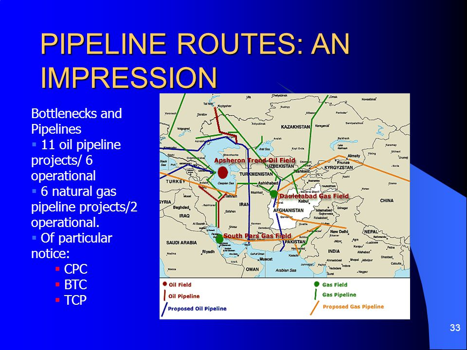 PIPELINE ROUTES: AN IMPRESSION