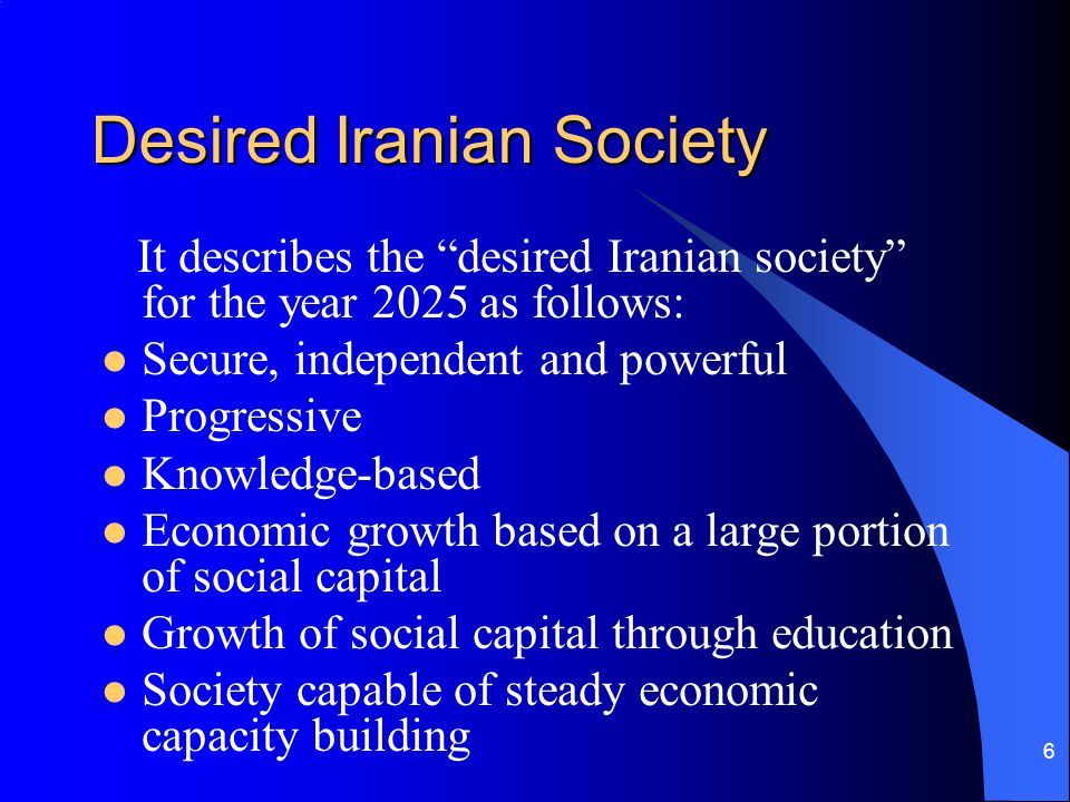 Desired Iranian Society